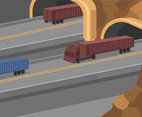 Highway Tunnel Vector