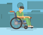 Hospital Wheelchair Vector