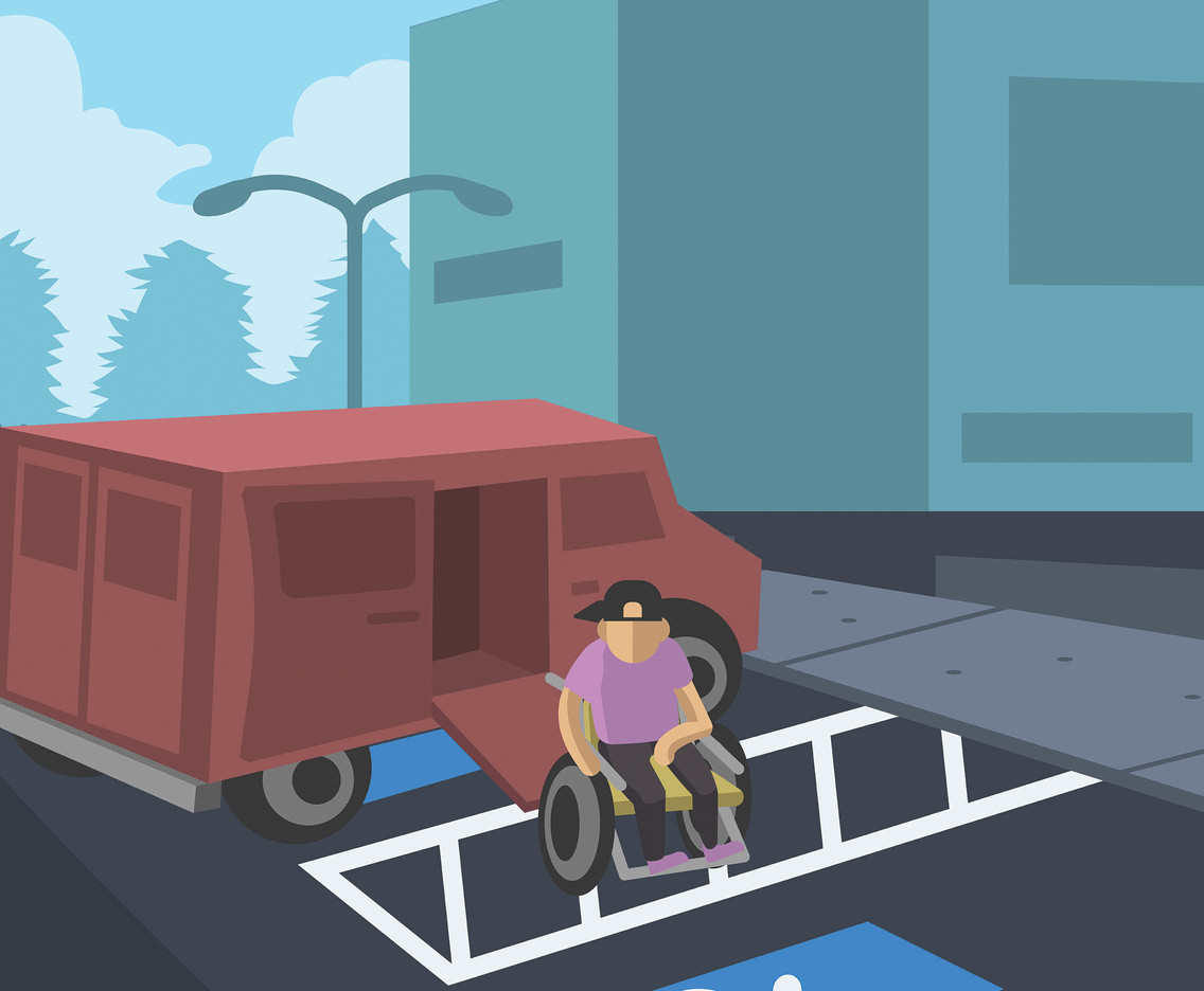 Wheelchair and Parking Spot Vector
