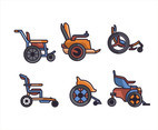 Types of Wheelchair Vector