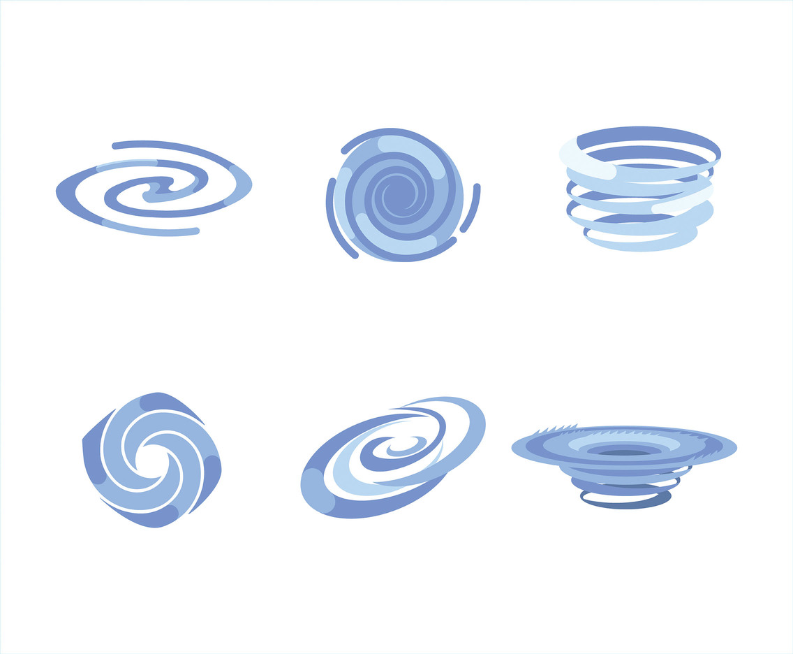 Whirlpool Vector in White Background