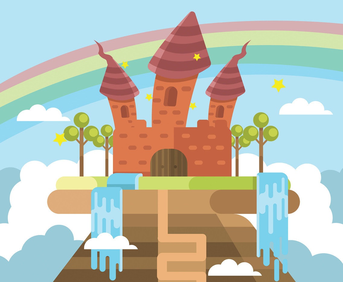 Wonderland Castle Vector