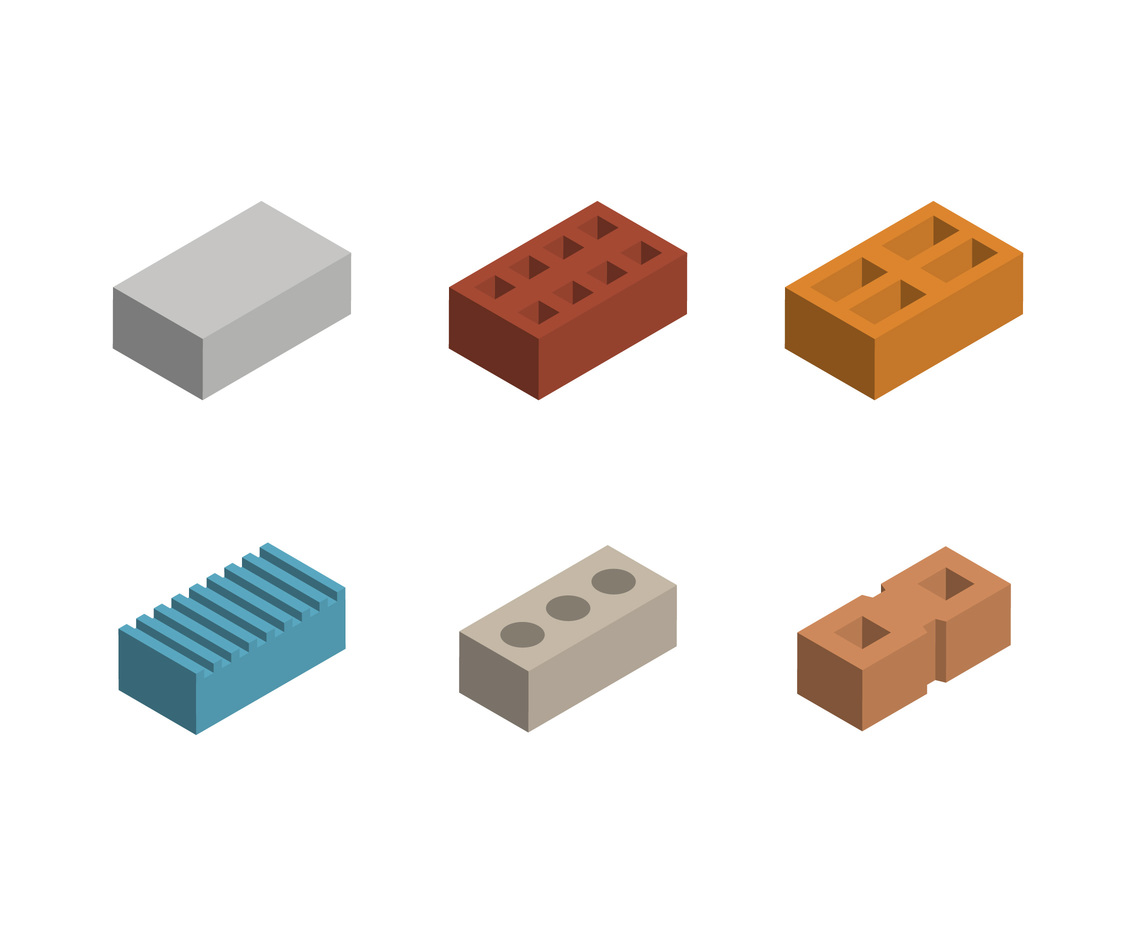 Free Iconic Construction Materials Vectors