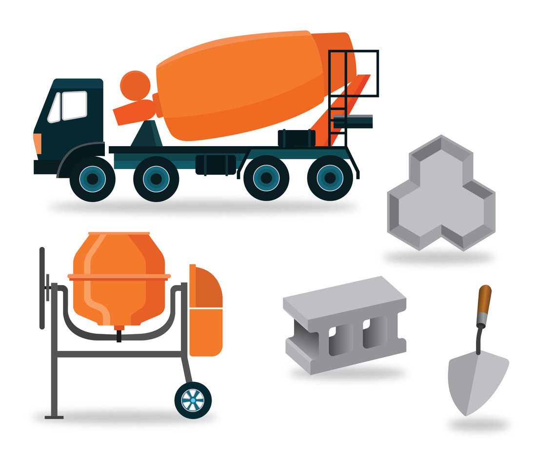 Concrete Making Tools Vector Pack