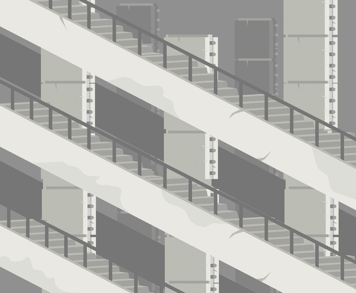 Concrete Stairs Vector
