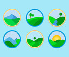 Valley Icons Vector