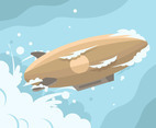 Brown Airship Vector