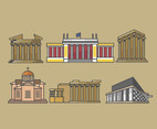 Famous Building of Athens Vector