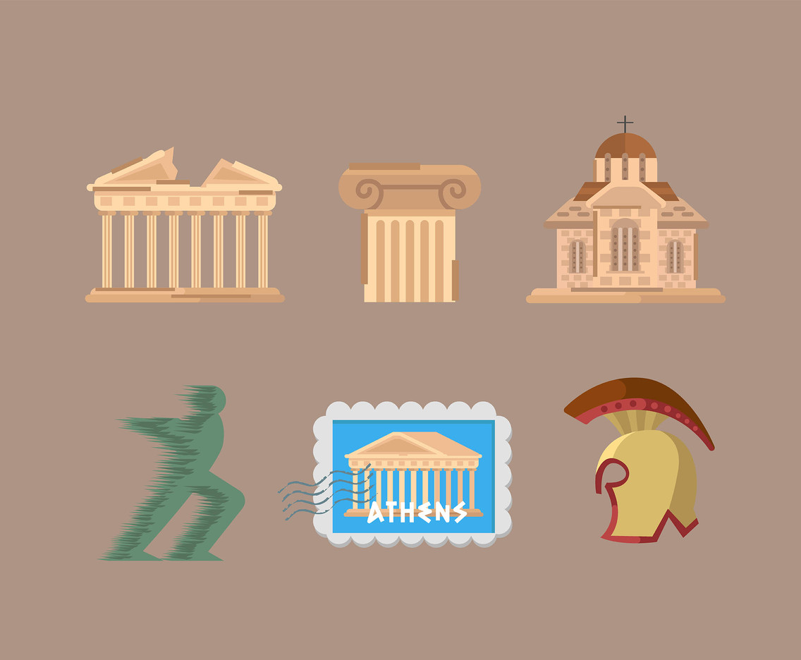 Athens Icon Vector