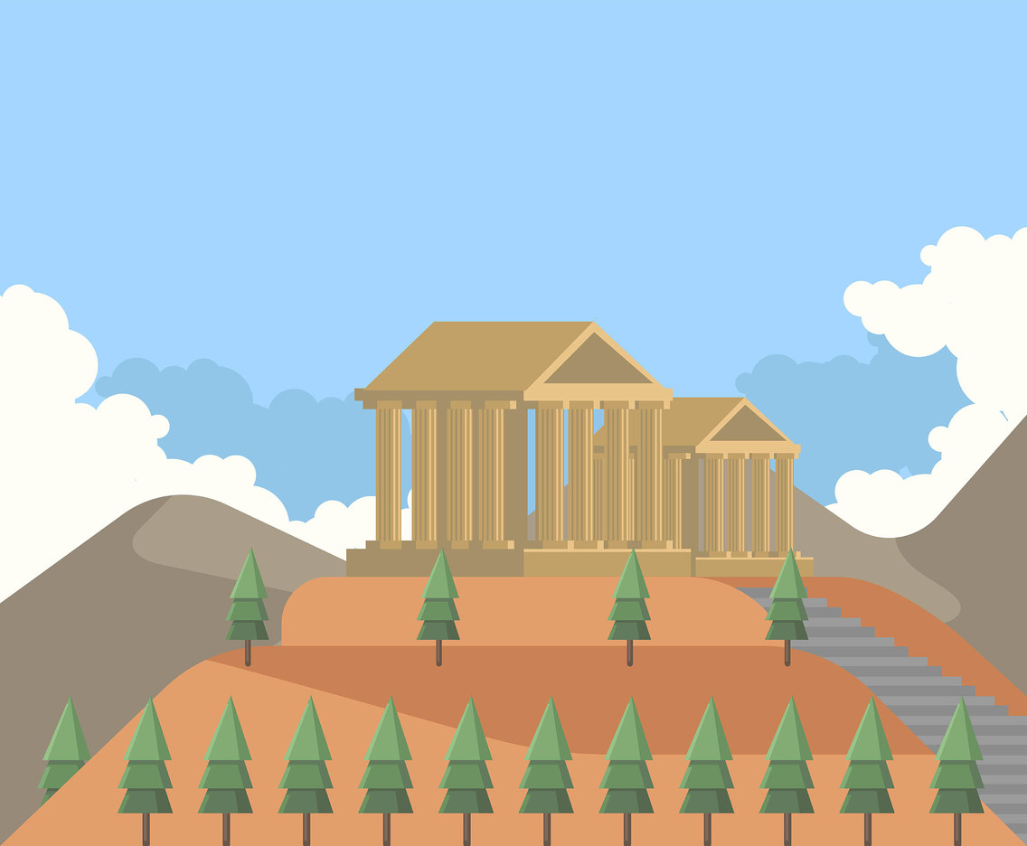 Parthenon of Athens Vector