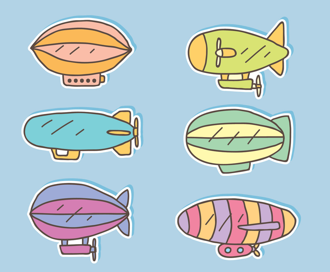 Hand Drawn Airship Vector