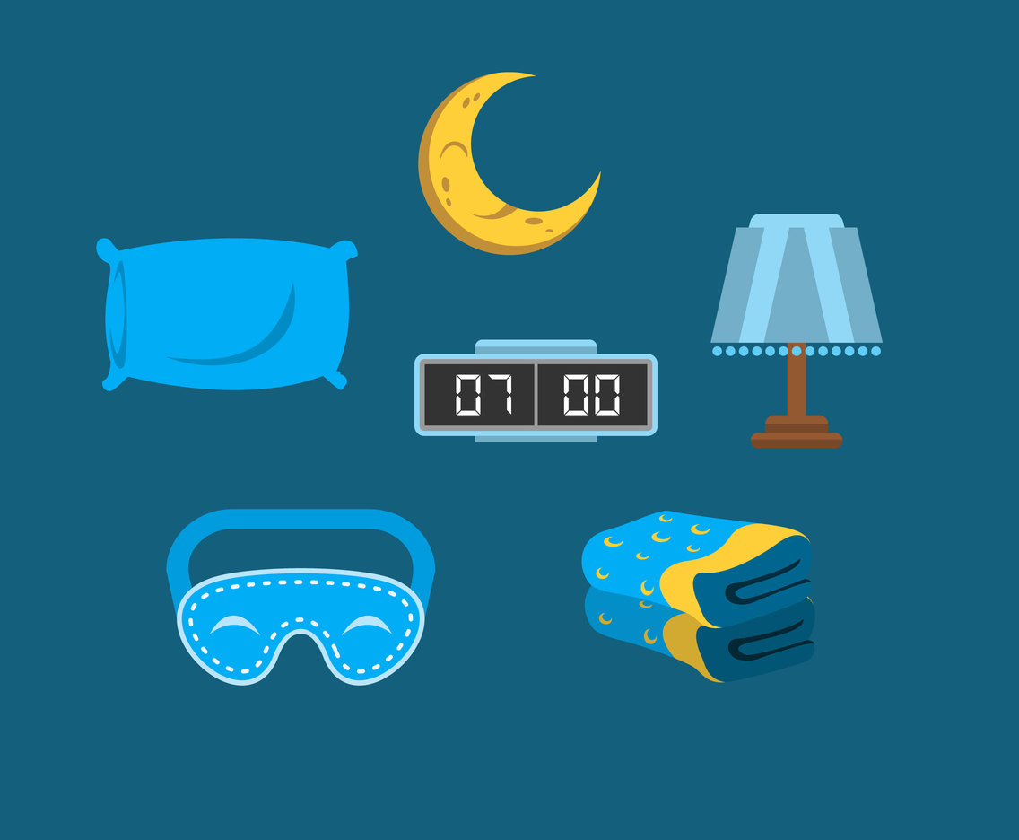 Good Night Sleep Vector