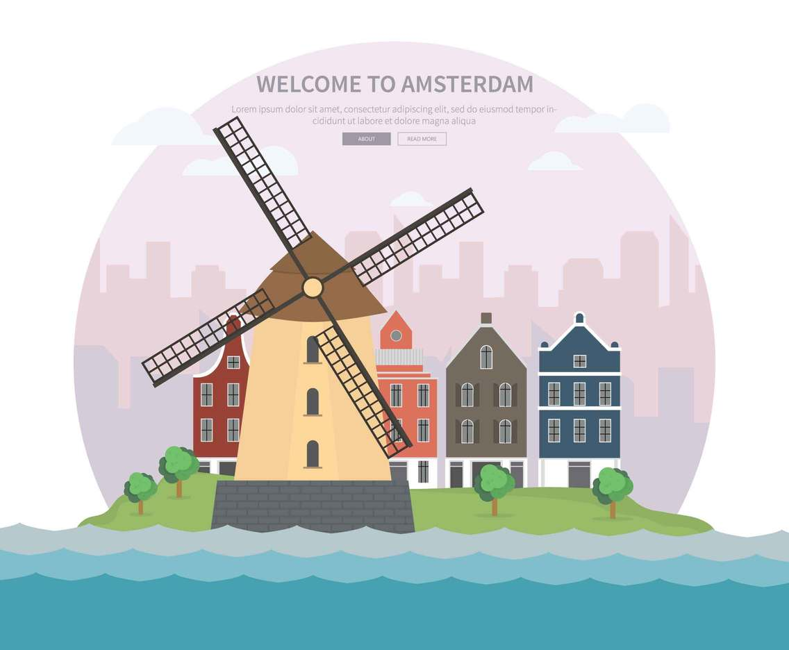 Free Amsterdam Illustration