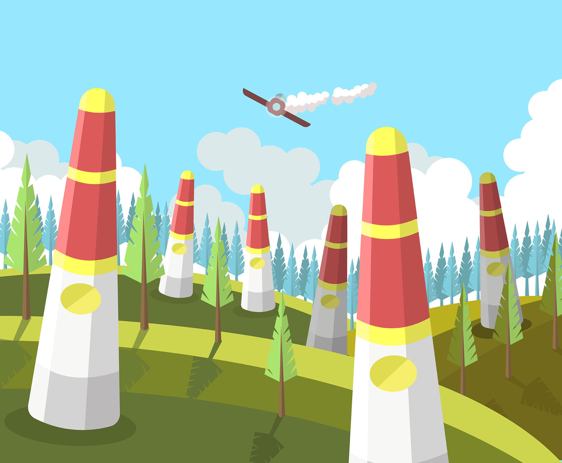 Air Race Pylon Vector Vector Art & Graphics | freevector com