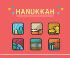 Hanukkah Vector Pink Background