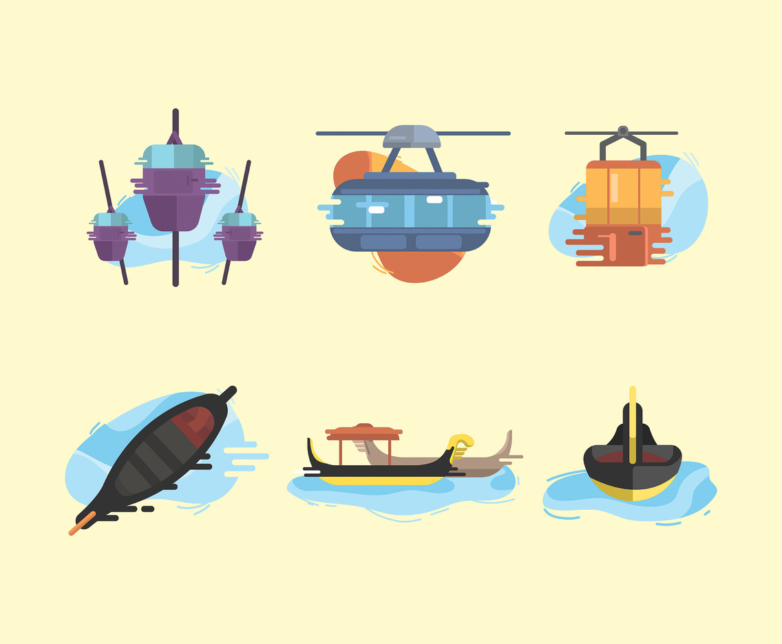 Gondola Vector Cream Background