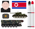 Free North Korea Vector