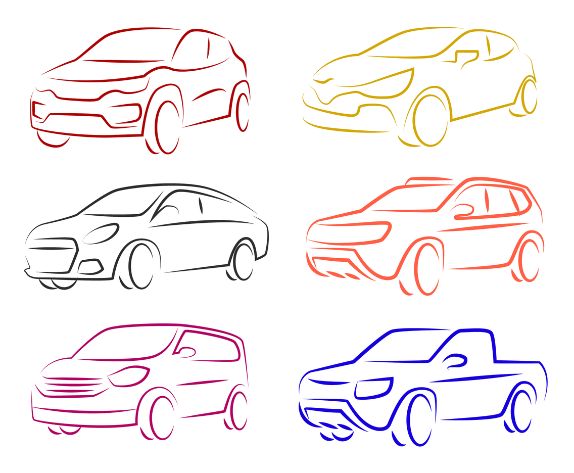 Free Renault Car Outline Vector