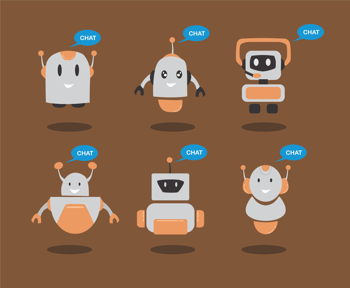 Chatbot Icons Vector