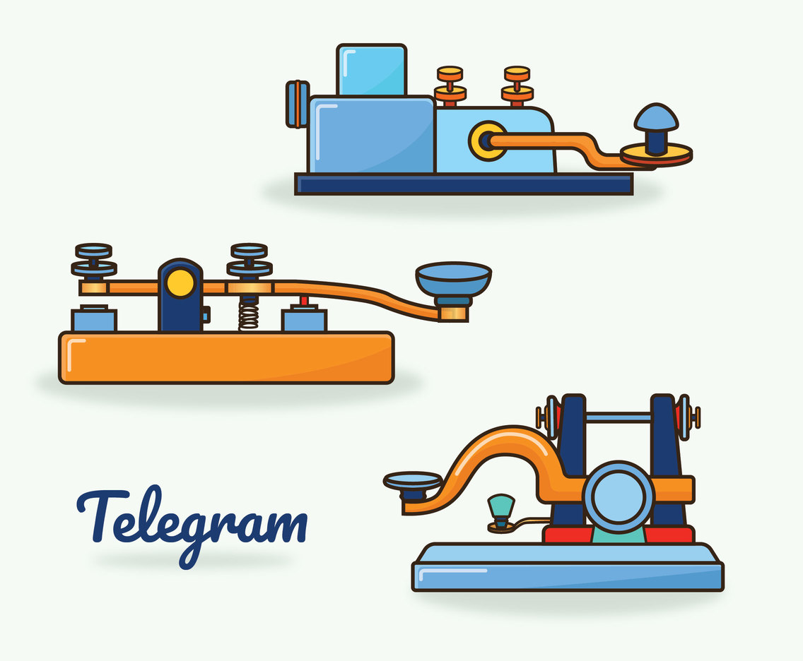 Old Telegram Vector Pack