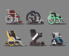 Wheelchair Models Vector