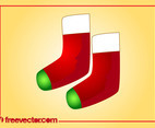 Christmas Boots Vector
