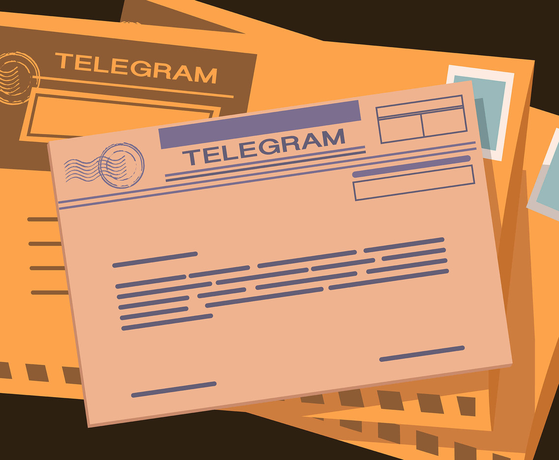 Telegram Letter Vector