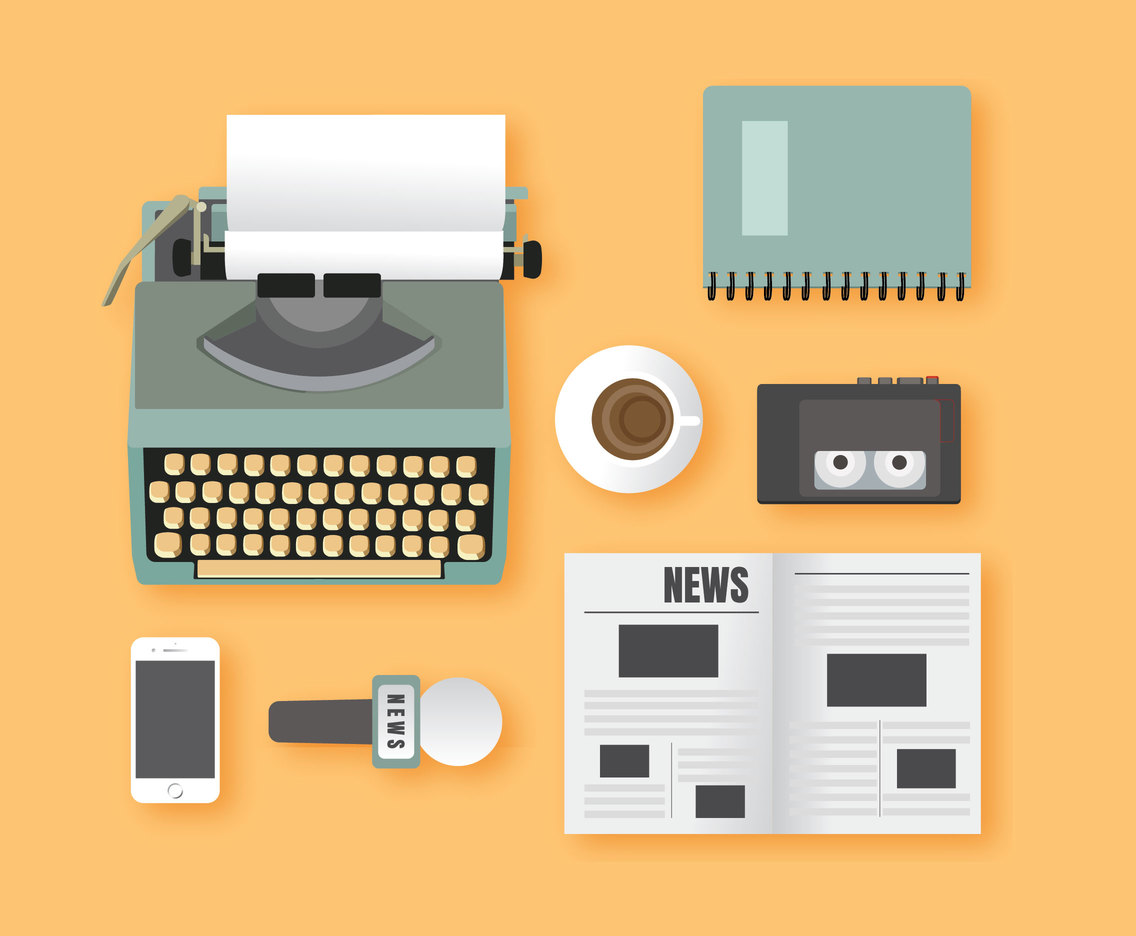 Journalist Equipment Vector Pack