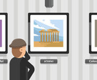 Athens Painting Vector