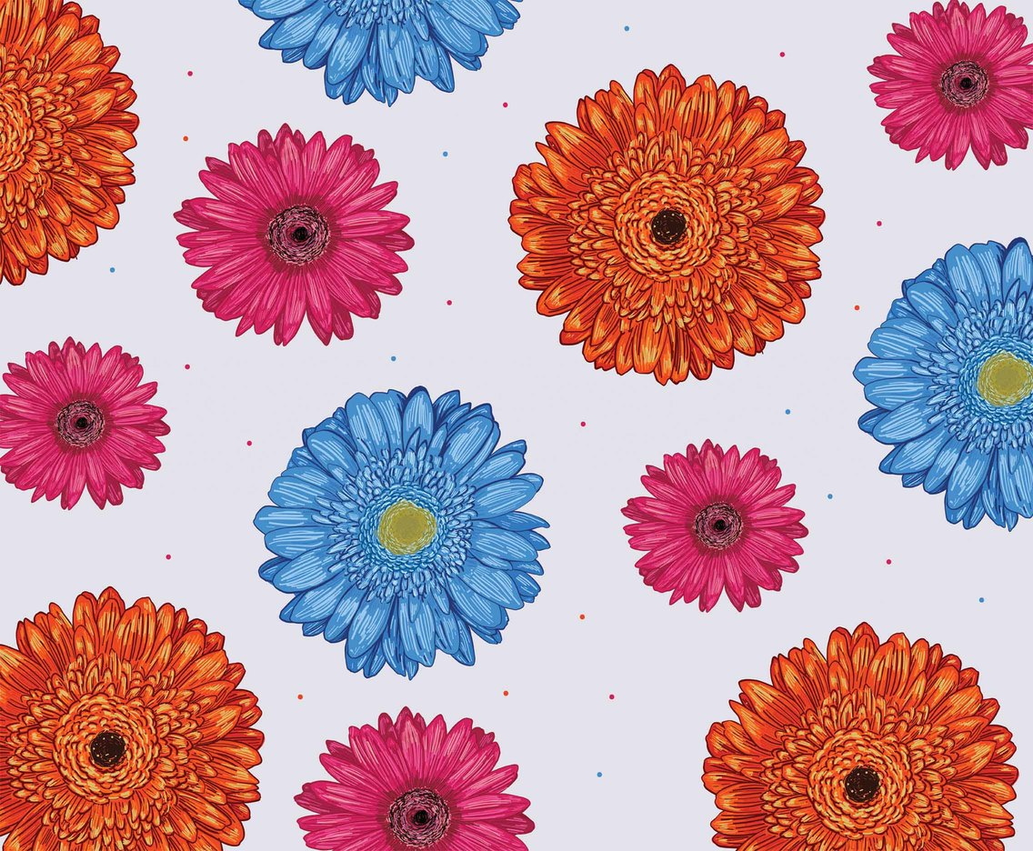 Gerbera Pattern Vector