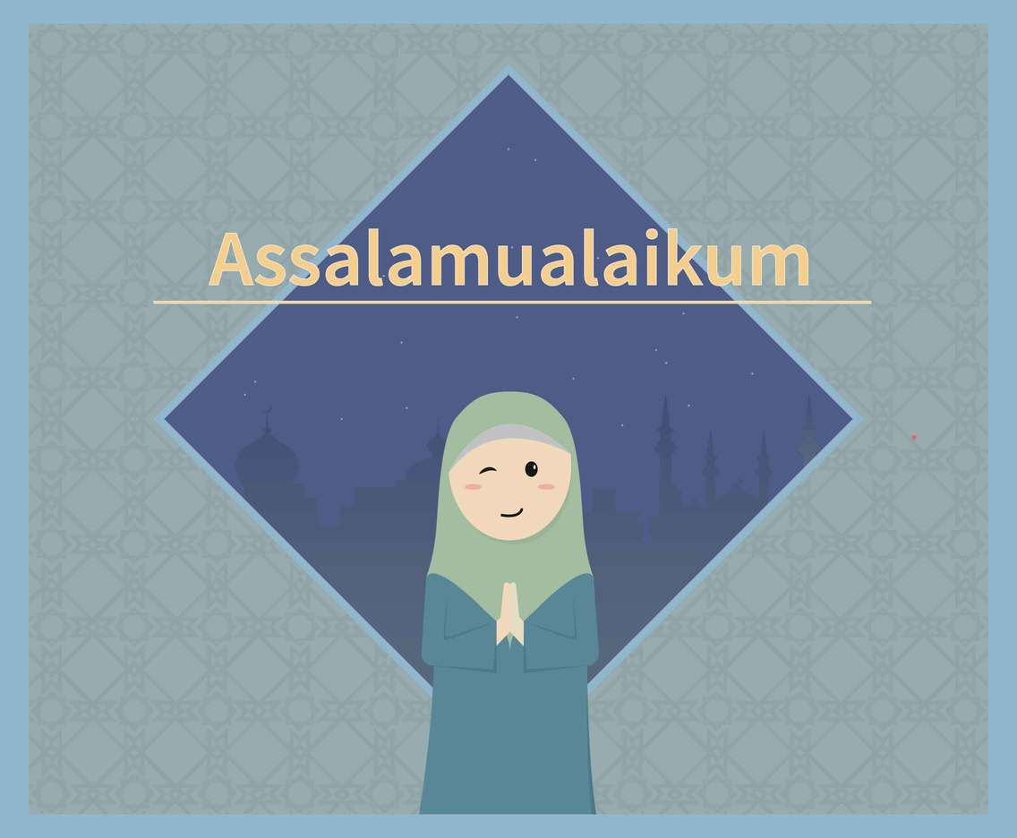 Assalamualaikum Illustration