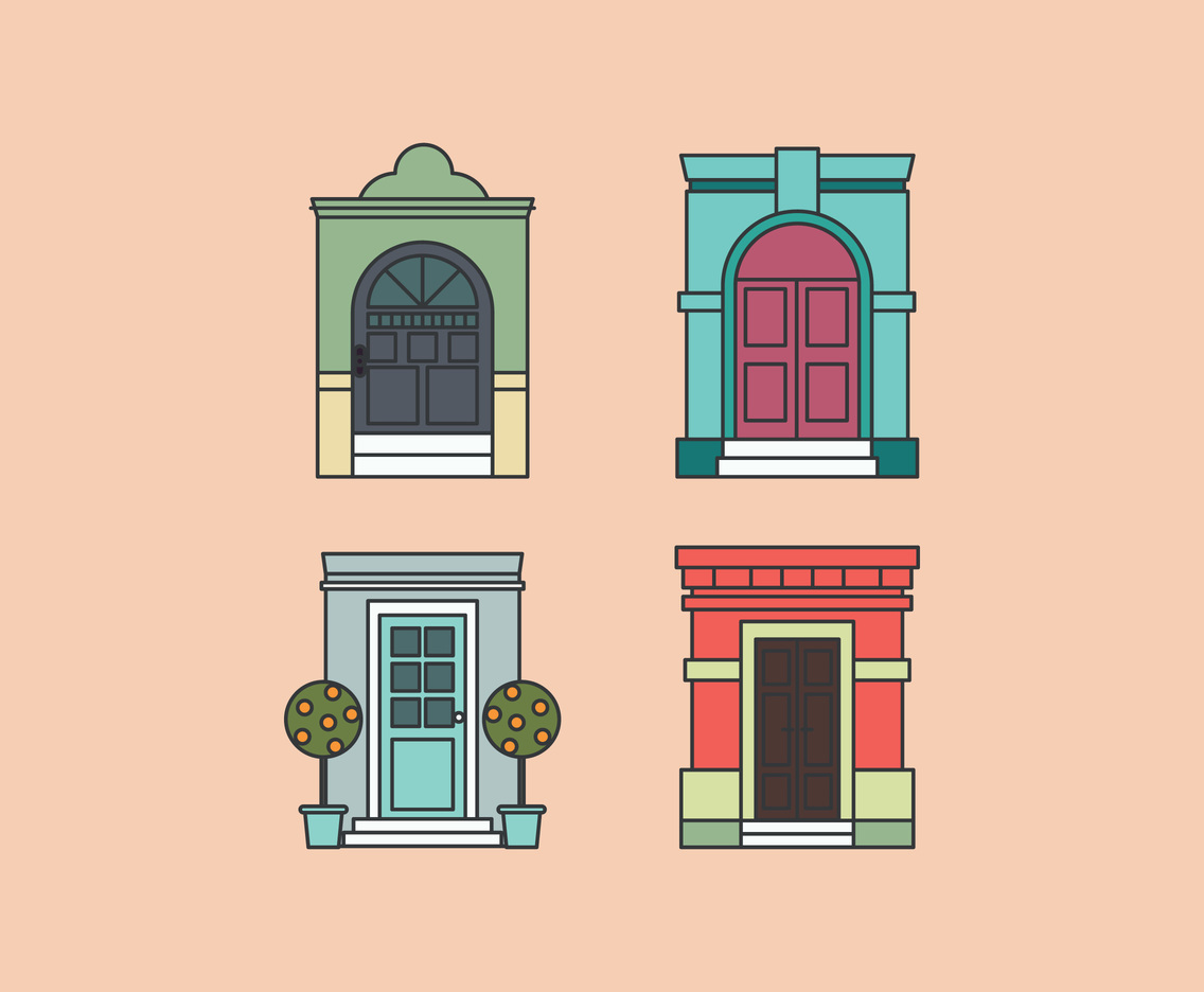 Outlined Doors