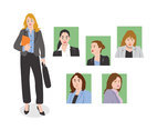 Businesswoman Illustration Vector