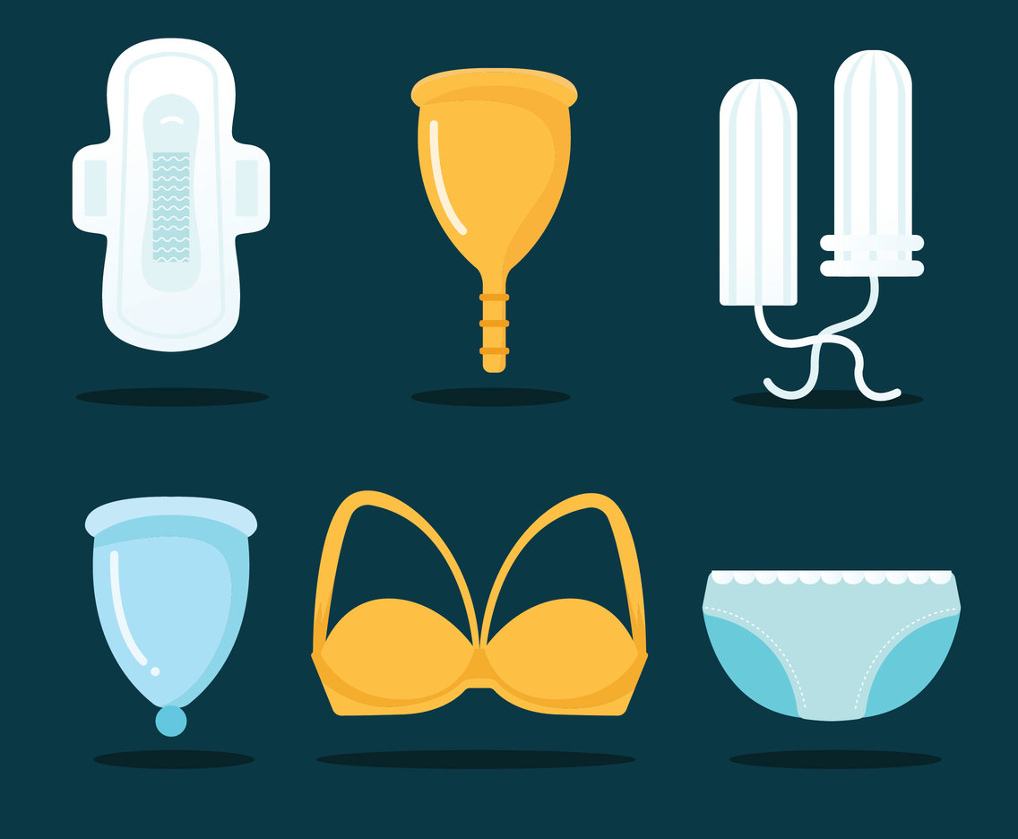 Feminine Products Vector Pack
