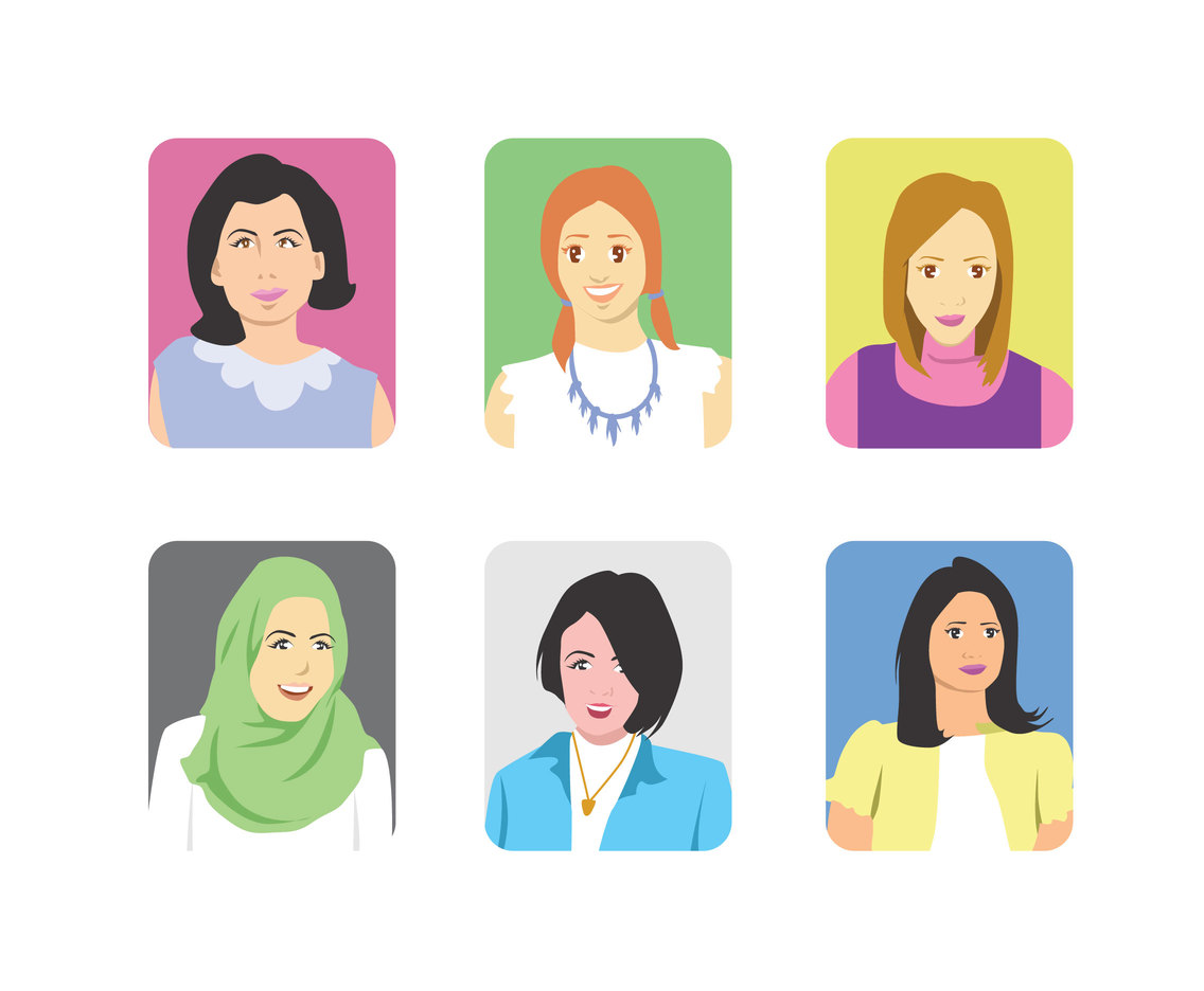 Ladies Avatar Vector