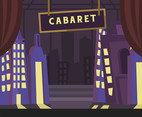 Cabaret Stage Vector