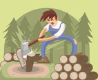Log Chop Vector
