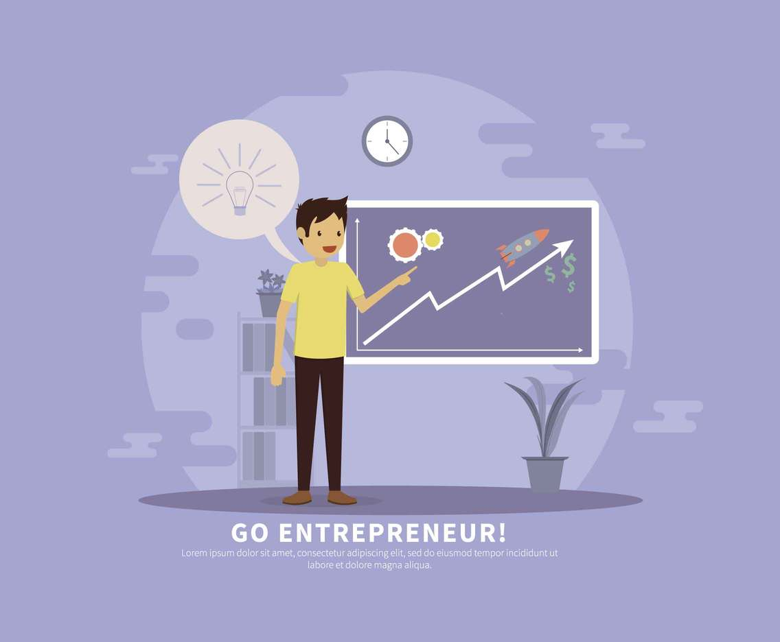 Entrepreneur Presentation Illustration