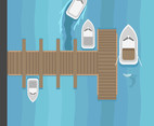 Boat Dock Vector
