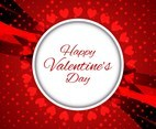 Free Vector Modern Happy Valentine's Day Background