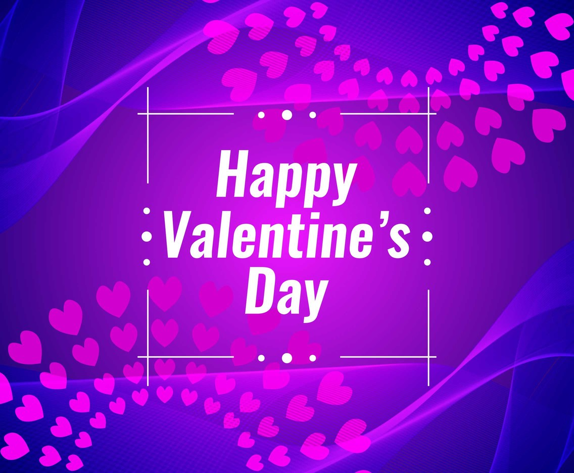 Free Vector Happy Valentine's Day Violet Background