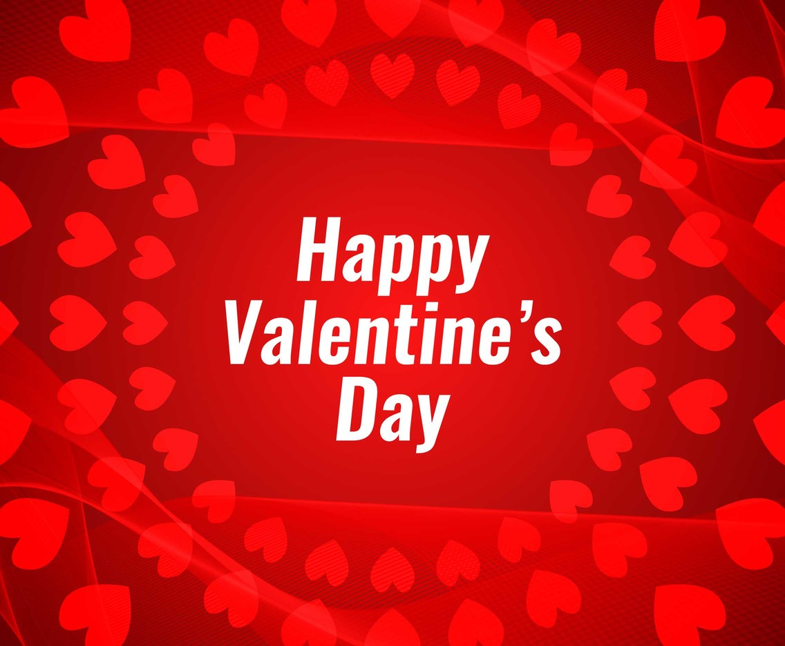 Free Vector Happy Valentine's Day Red Background