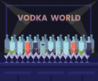 Vodka Bottles Vector