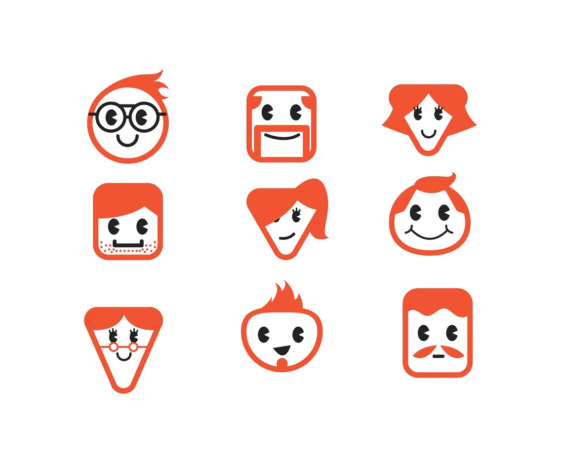 Orange-and-White Redhead Vector