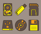 Digital Storage Collection Vector