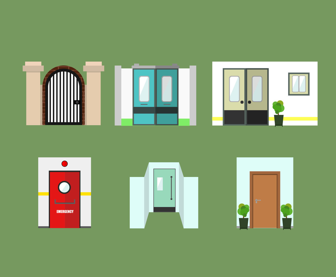 Various Gates and Doors Vector