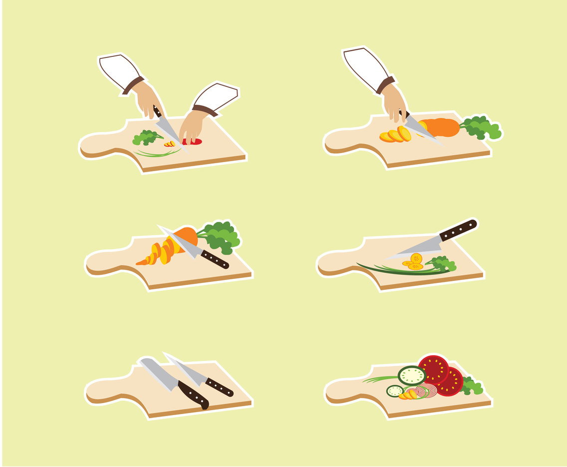 Chopping Vegetables Vector