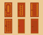 Wood Door Entrance Vector