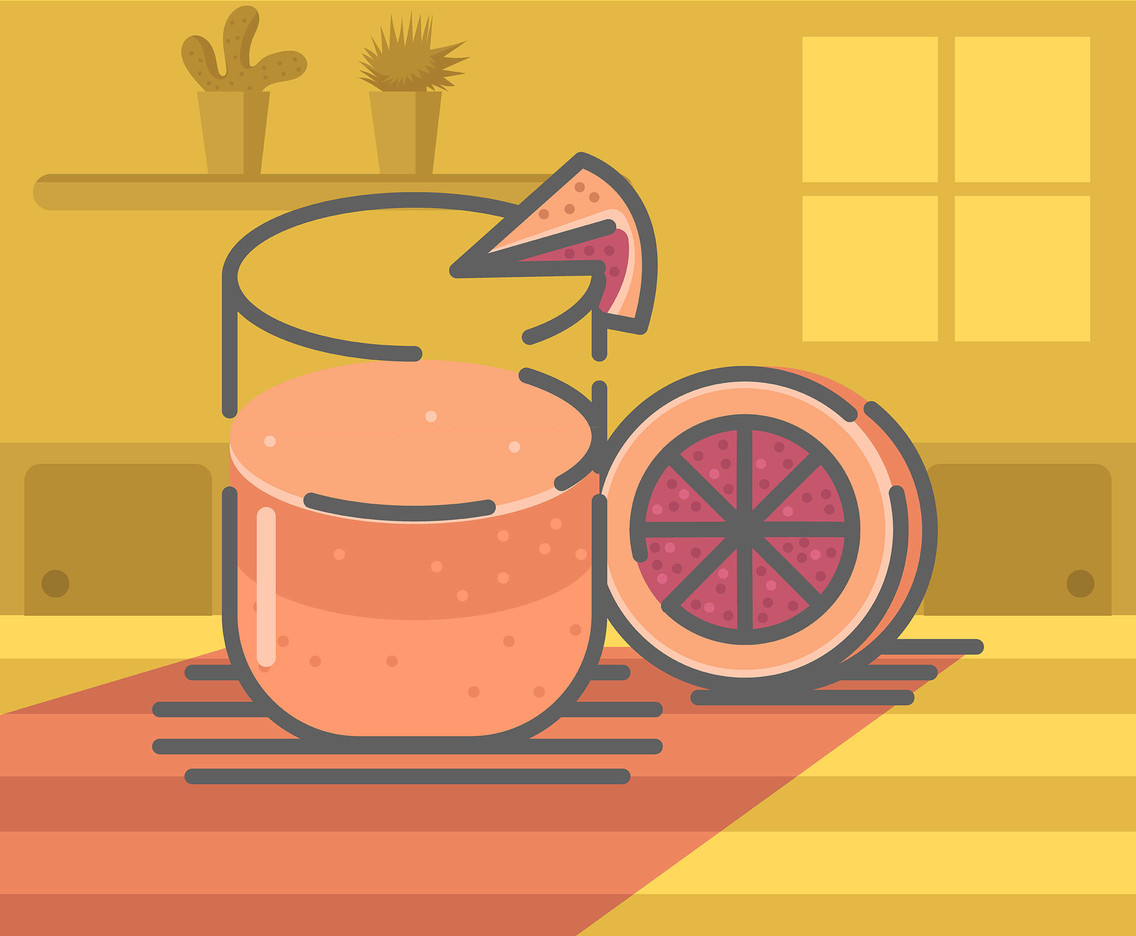 Grapefruit Juice Vector