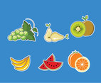 Fresh and Tropical Fruits Vector